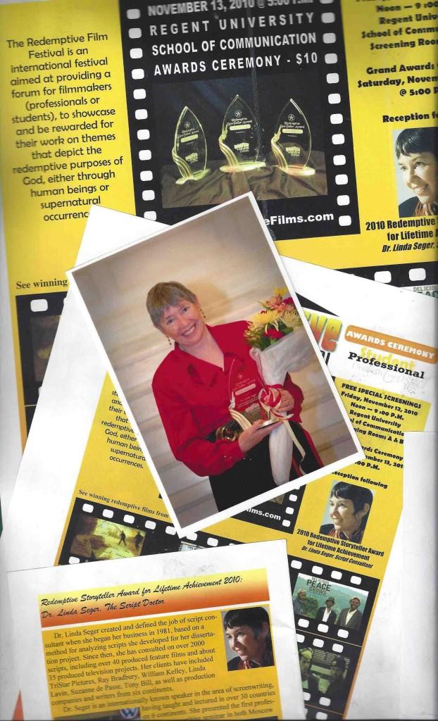 Linda Seger wins Redemptive Film Festival Award