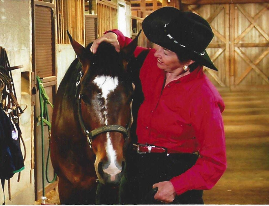 Linda Seger with her horse