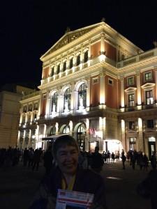 Script consultant Linda Seger at Vienna Austria concert