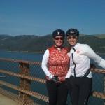 Jennifer and cycling friend