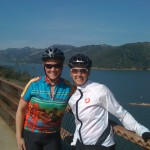 Jennifer with cycling friend