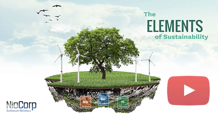 NioCorp To Integrate Key Environmental, Social, and Governance (ESG) Principles Into its  Elk Creek Superalloy Materials Project