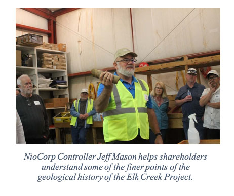 NioCorp Controller Jeff Mason helps shareholders understand some of the finer points of the geological history of the Elk Creek Project.
