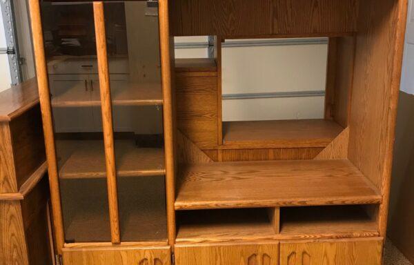 Oak TV Entertainment Cabinet