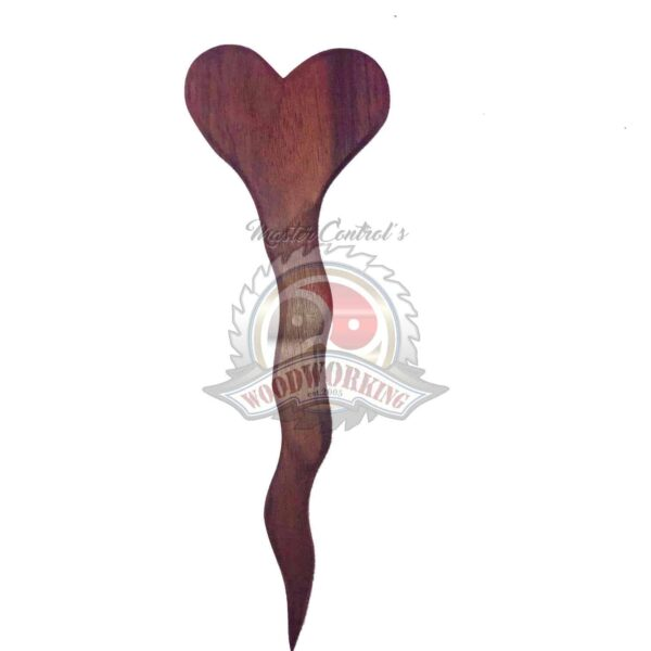 Sensual Small Heart Exotic Wooden Spanking Paddle