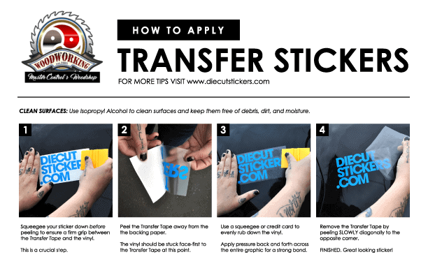 How to apply a transfer stickers
