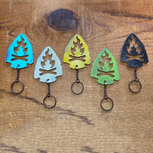 Arrowhead-Campfire-Keychain