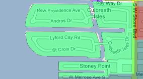 Culbreath Isles Map