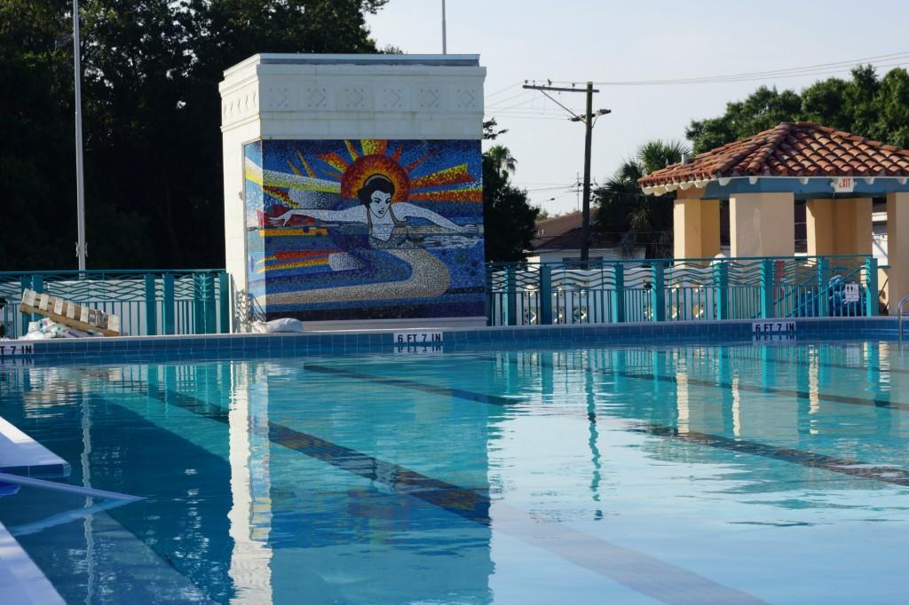 Davis Islands Roy Jenkins Pool Art Work