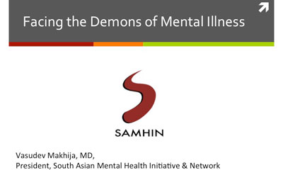 SAMHIN presentation Facing the Demons of Mental Illness
