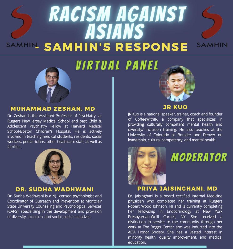 Webinar Racism Against Asians May 16, 2021