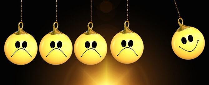 sad and happy face