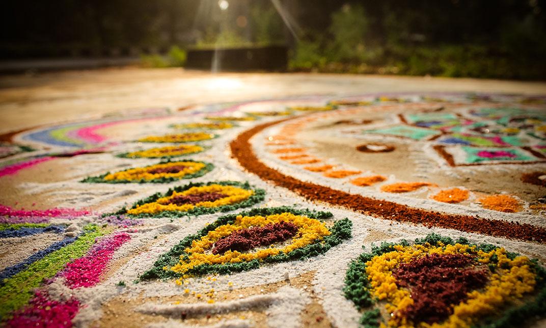 festival rangoli colors