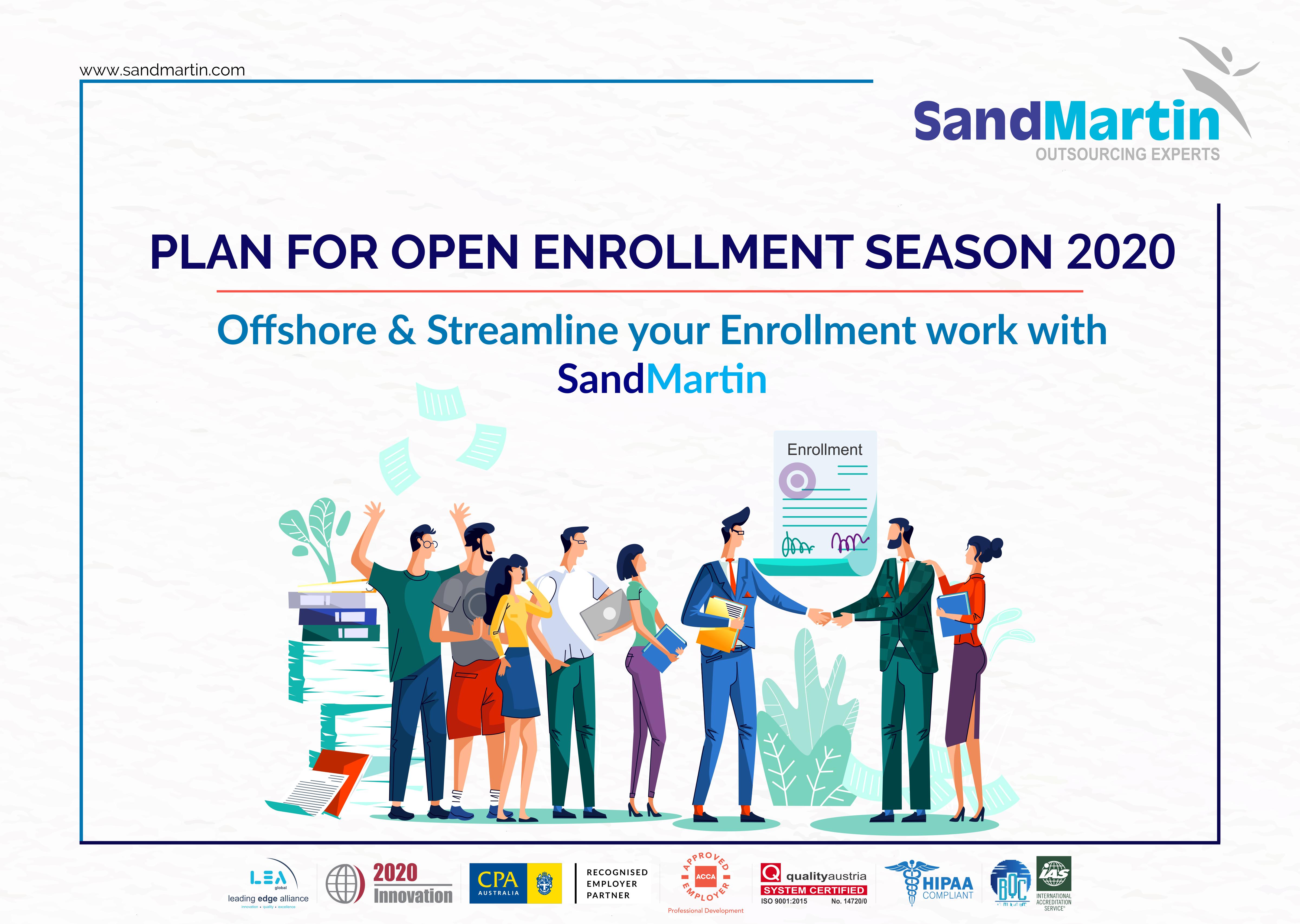 Plan for Open Enrollment Season 2020 Offshore & Streamline your Enrollment work with SandMartin
