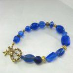 Royal Blue Multi-Bead Bracelet