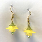 Yellow Lucite Flower Earrings