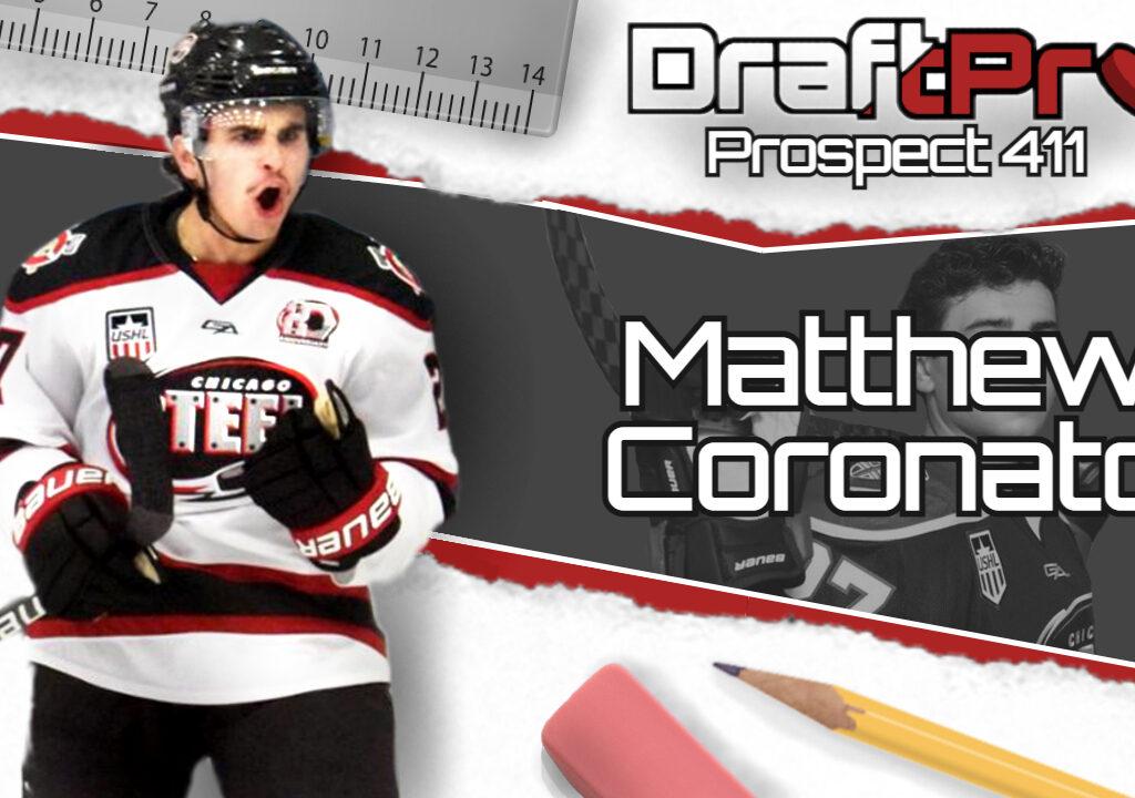 Get the 411 on 2021 NHL Draft prospect Matthew Coronato of the 2021 USHL Clark Cup Champion Chicago Steel.