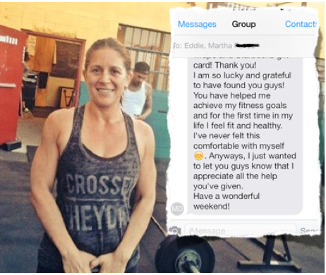Martha find a personal trainer