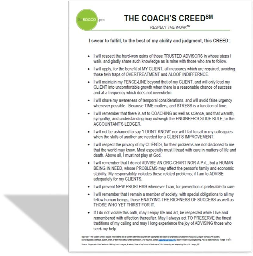 Coach's Creed - shadow