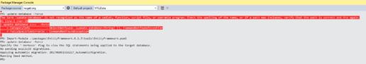Entity Framework Update-Database Not Recognized