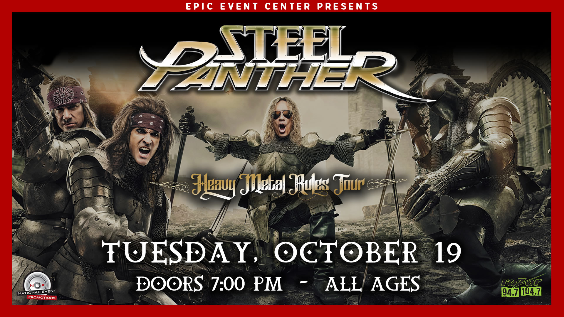 STEEL PANTHER @ EPIC Event Center / Green Bay WI