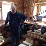 Tom DeLuca in his studio