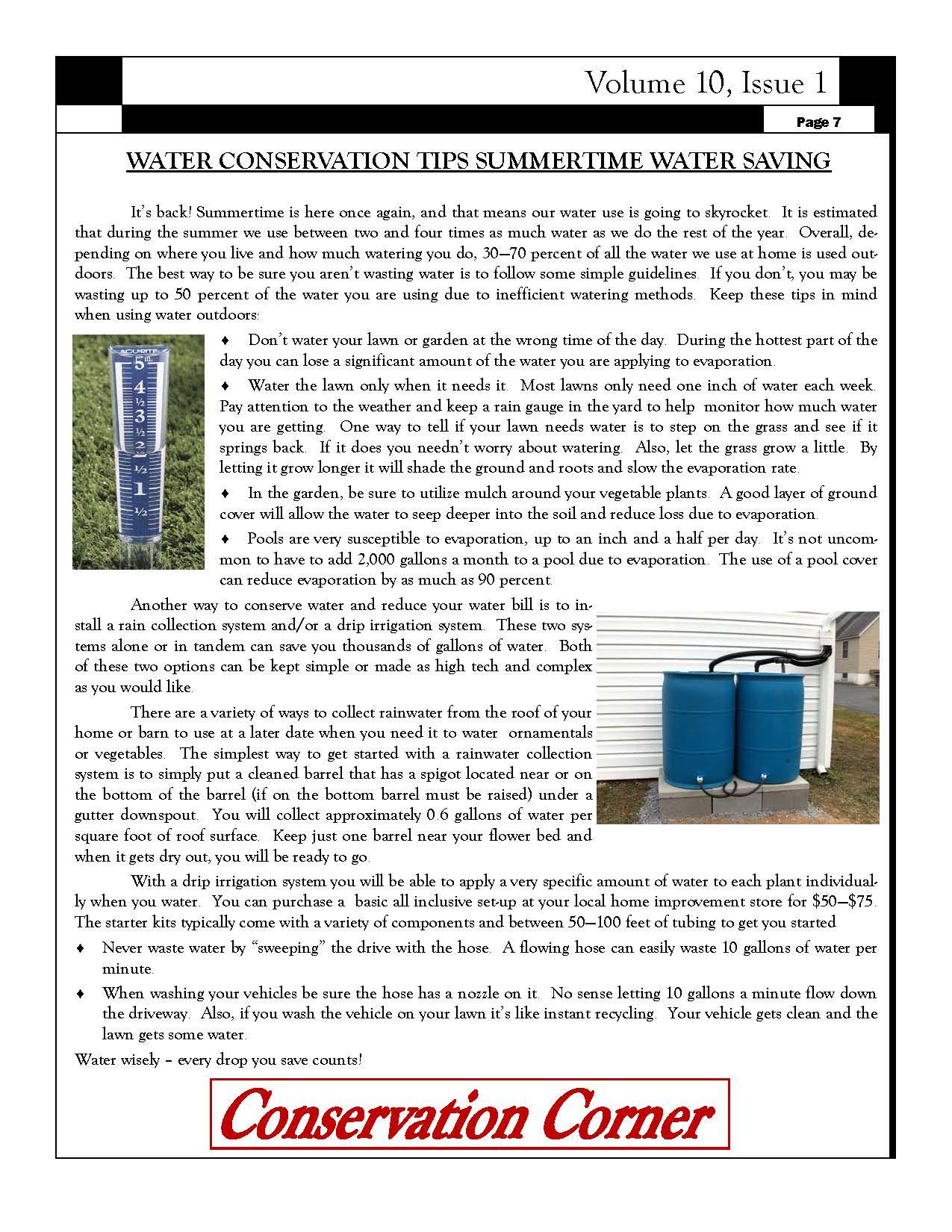Summertime Water Saving