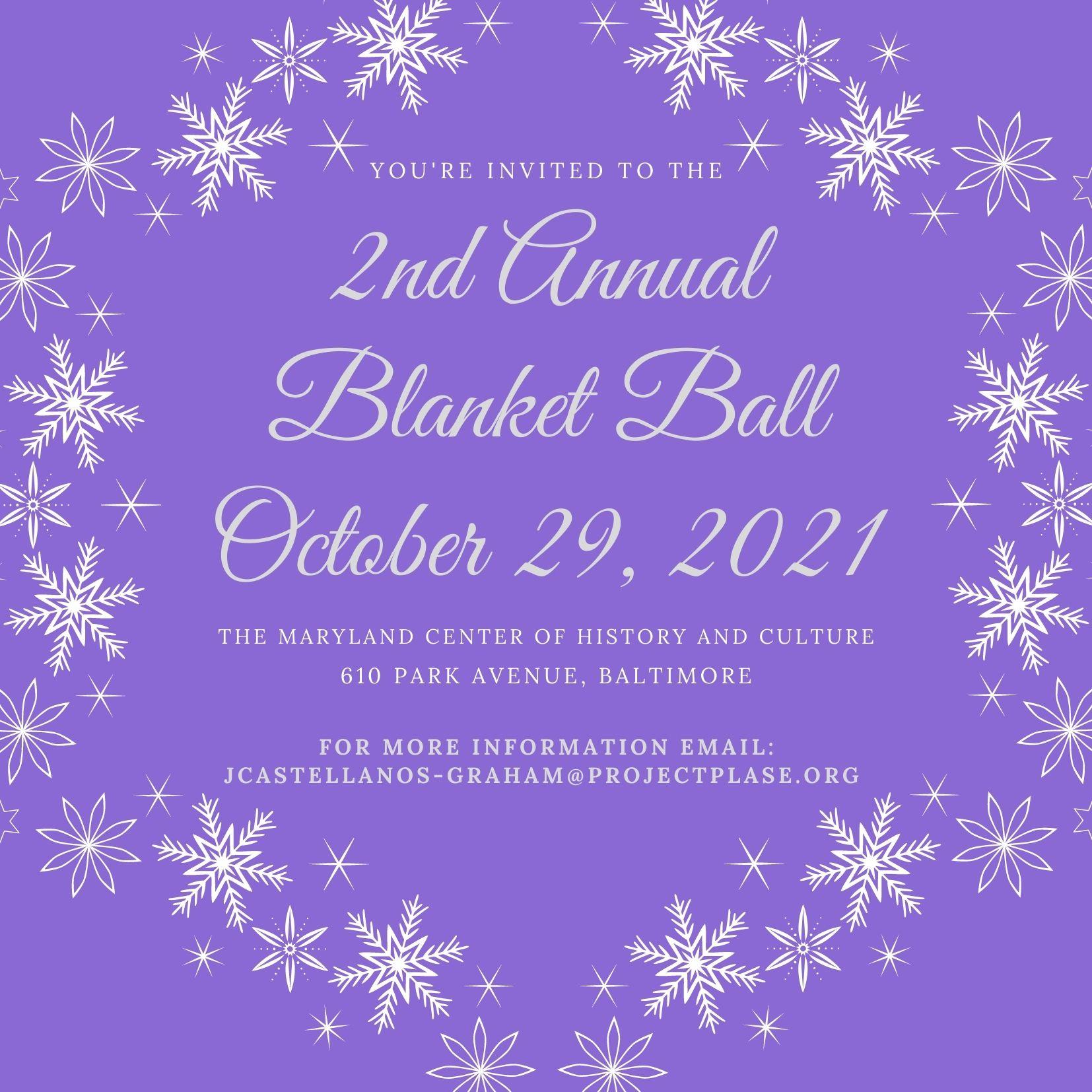 Blanket Ball Invitation - October 29th
