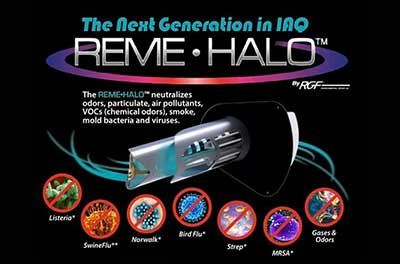 REME HALO whole home in-duct air purifier
