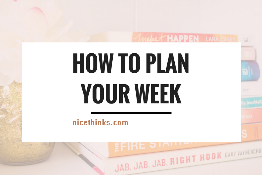 Plan a week for your goal on Sunday.