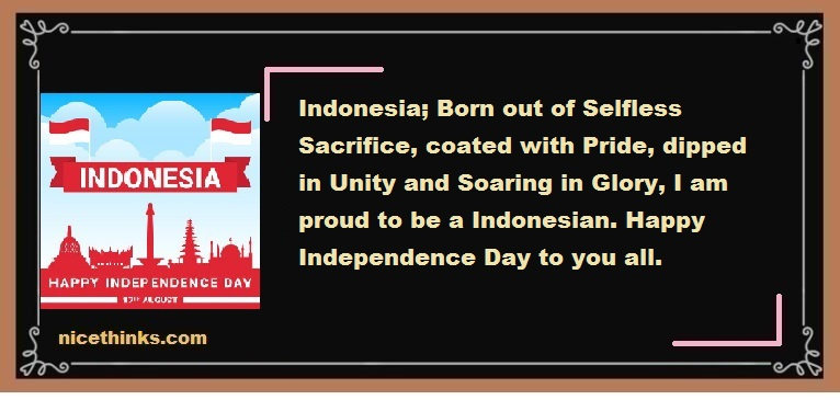 Indonesia Independence Day Messages