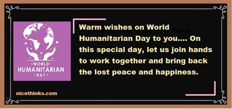 Humanitarian Day Greetings And Messages