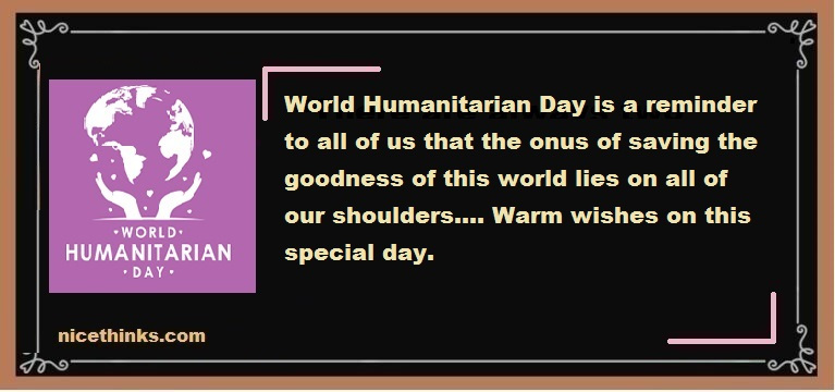 Humanitarian Day Messages And Wishes