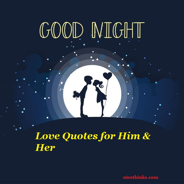 Good Night Love Quotes for Him & Her