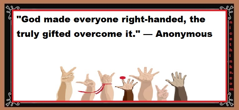 Left Handers Day Funny Quotes