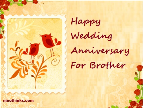 Wedding Anniversary Wishes Images for Brother
