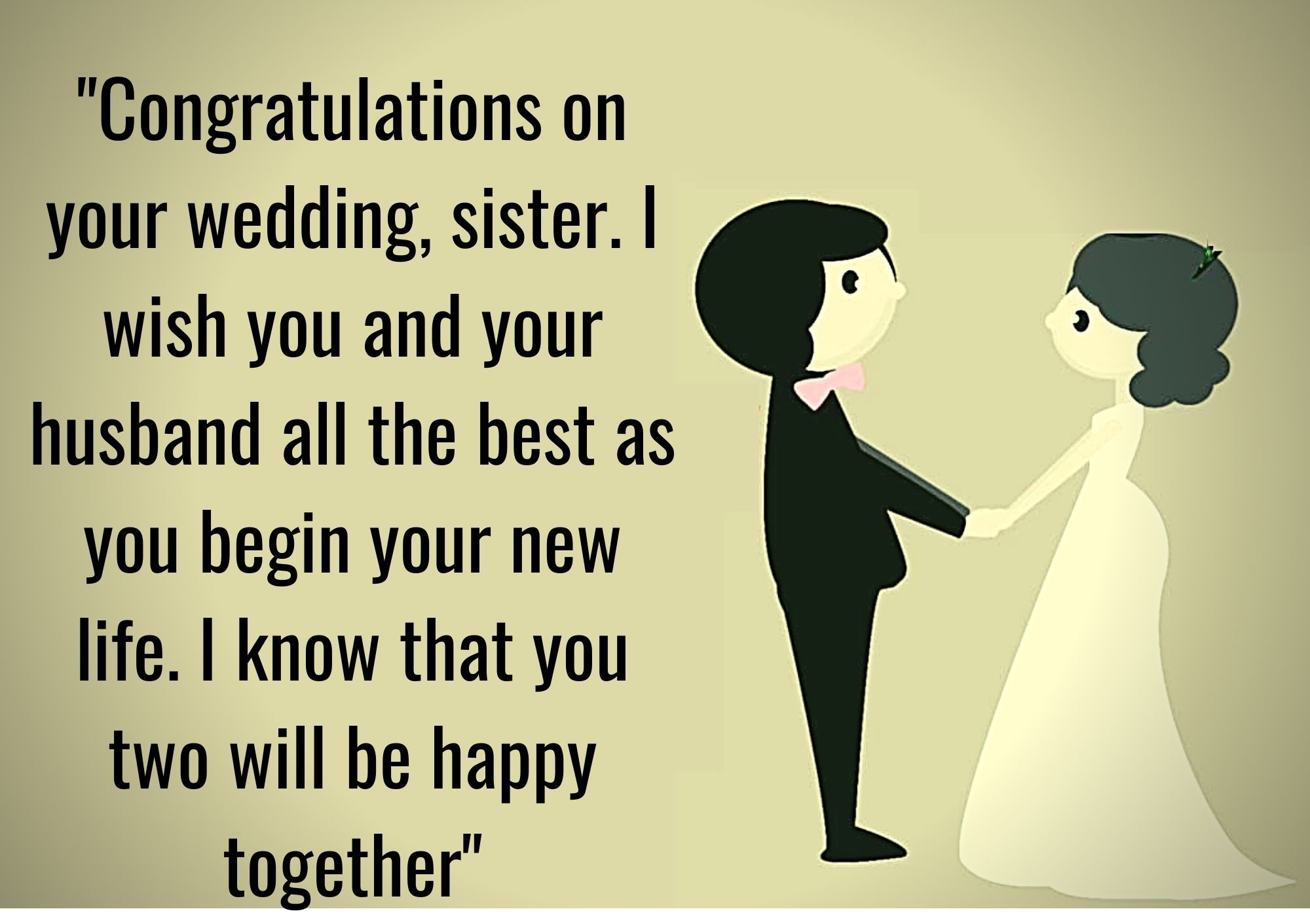 marriage wishes for sister