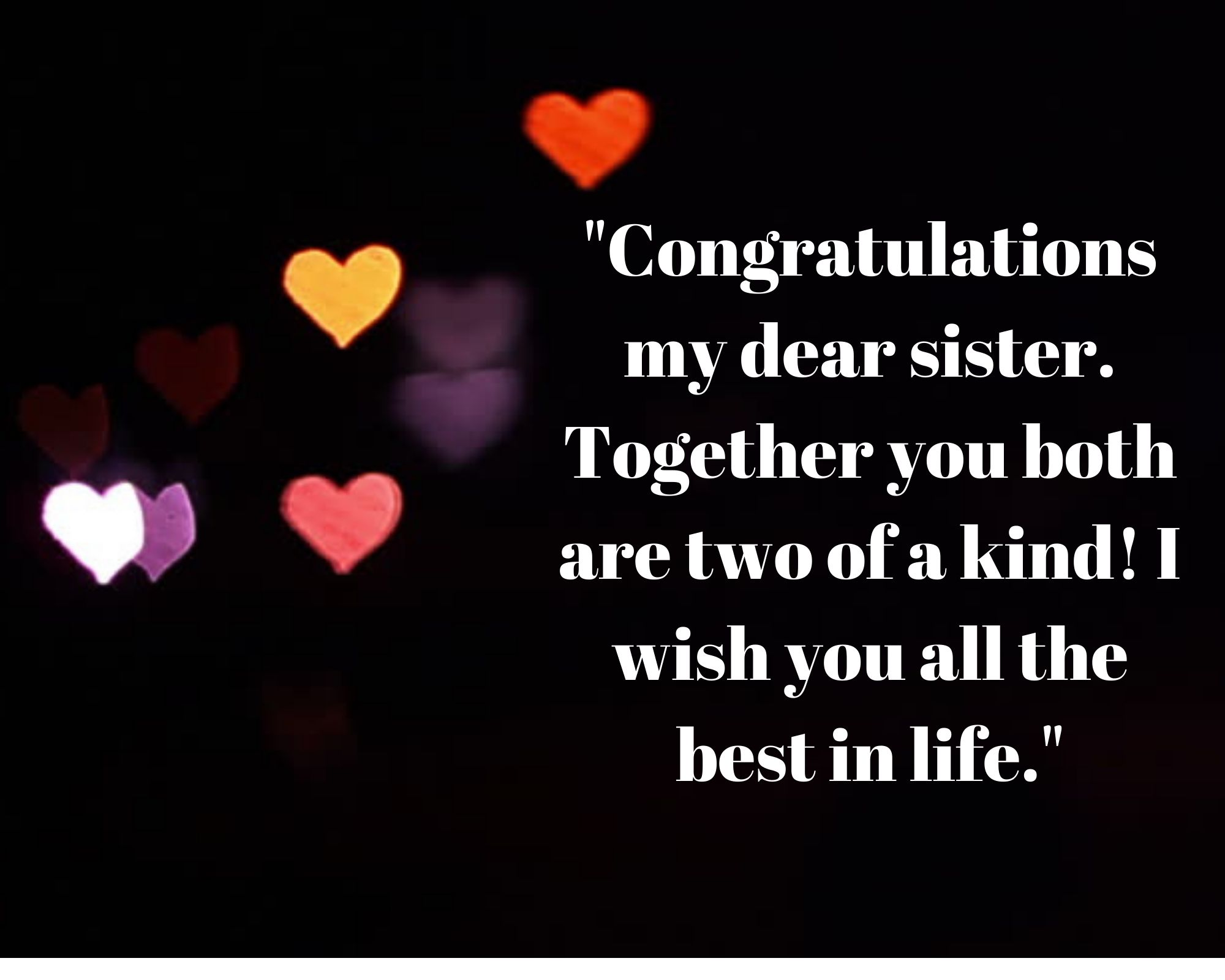 Wedding Congratulation Messages For Sister