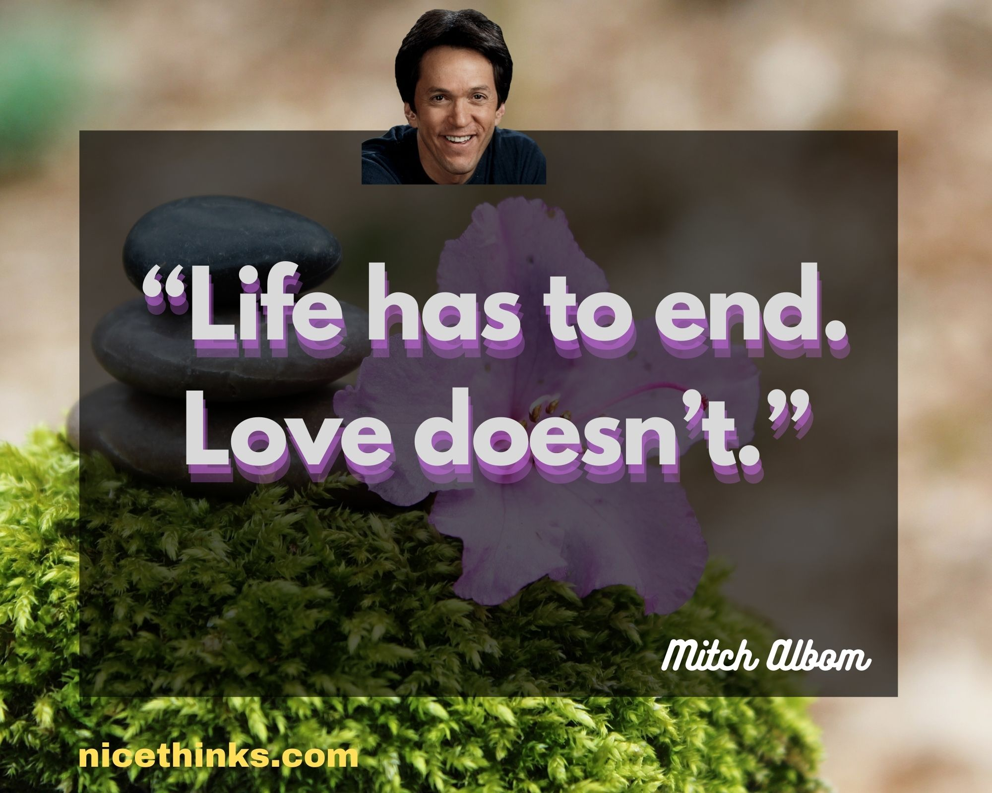 """""""Life has to end. Love doesn't."""""""