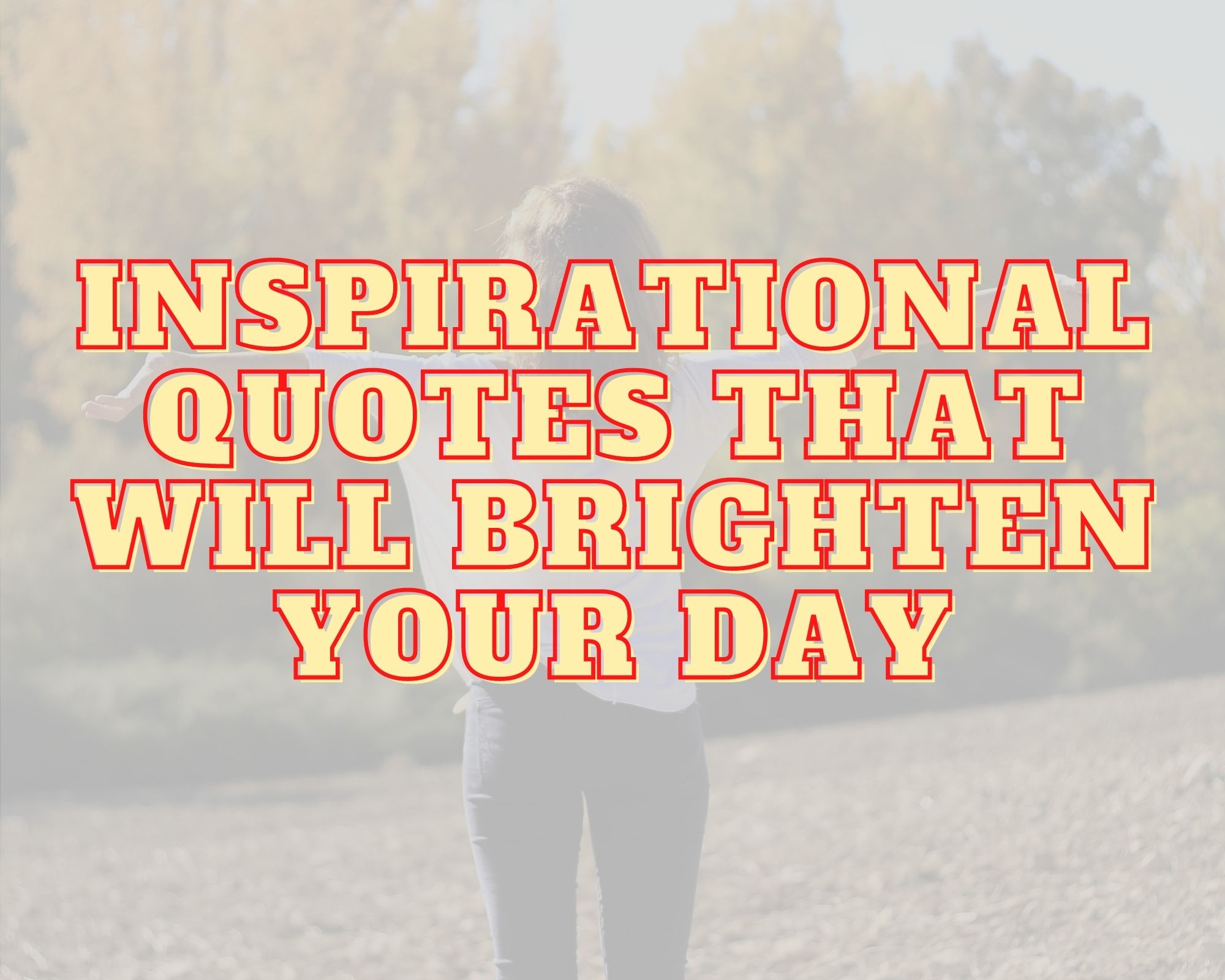 Inspirational Quotes That Will brighten Your Day