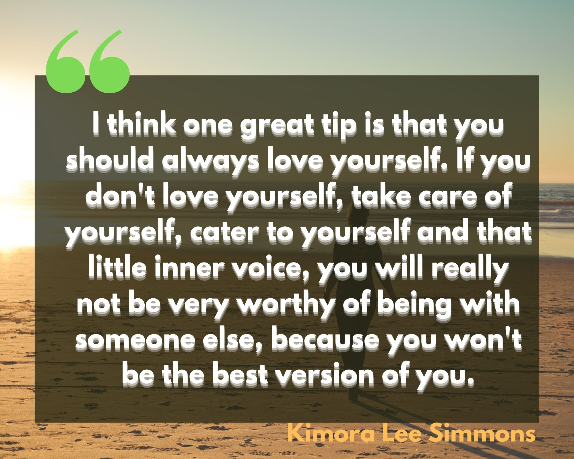 quote for love yourself