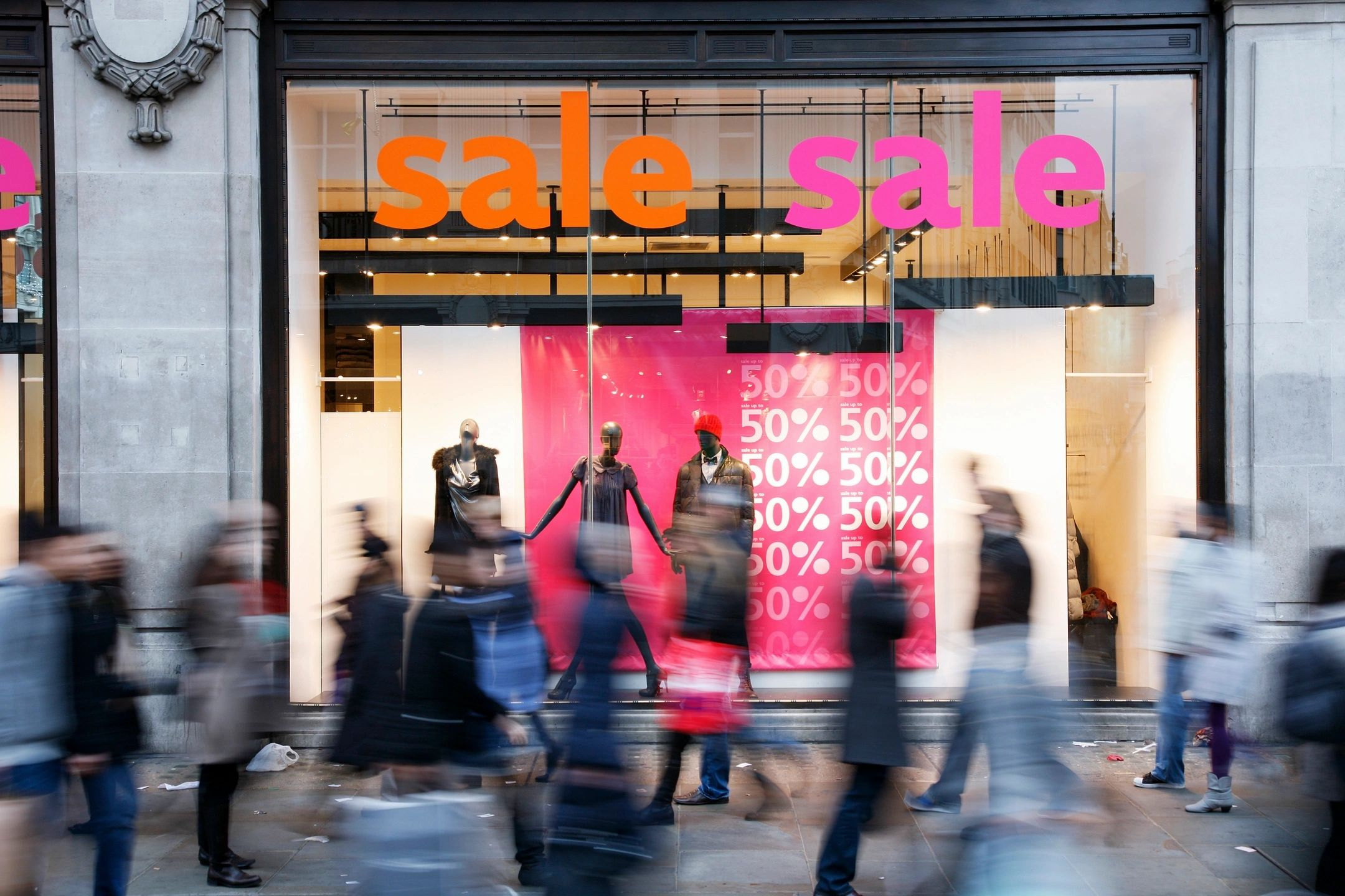 Store advertising sale