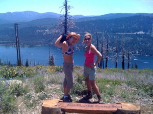 Helen, me and Donner Lake