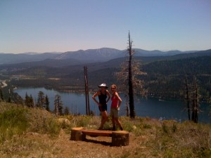 Mandy and me looking out over Donner Lake
