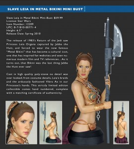 Slave Leia bust by Gentle Giant