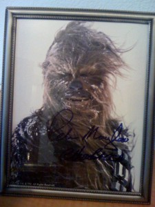 Chewbacca - signed pic