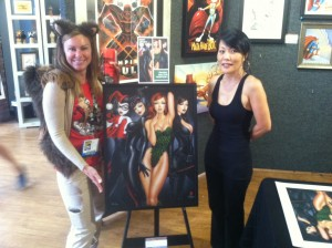 Artist Mimi Yoon (and me!) with my Bad Girls :)