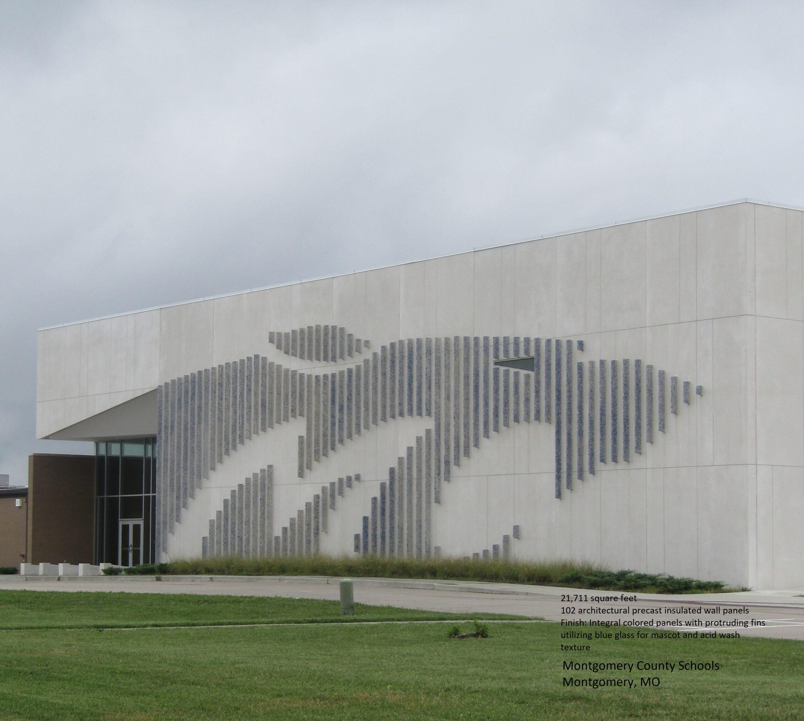 Montgomery County School - Montgomery, MO   Mid America Precast   Precast Concrete Company