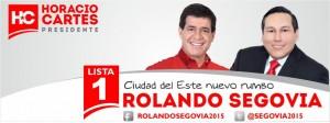 Rolando Segovia Nuevo Rumbo Con Horacio Cartes.