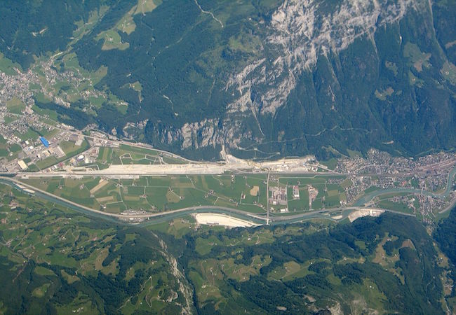 Gotthard Base Tunnel, the building site installations near the North entrance. (Photo by Klaus Foehl: Courtesy of WikiCommons)